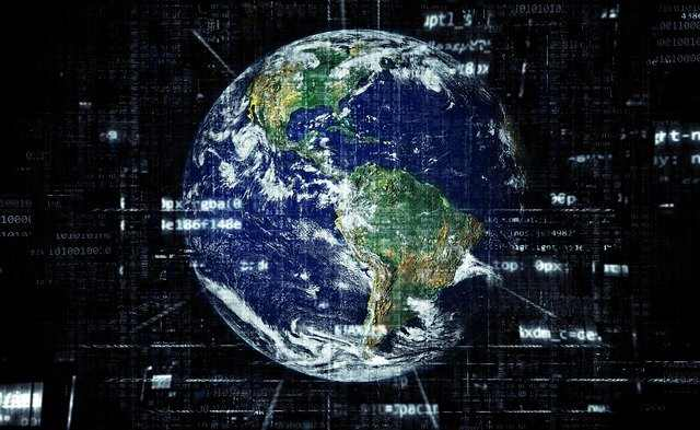 the earth is covered by the internet
